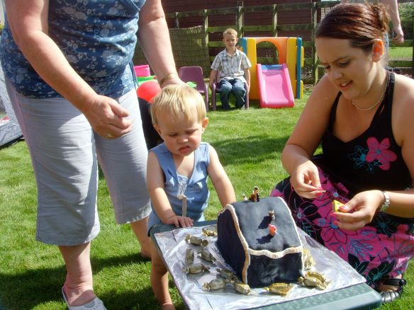 Little Mr A's first birthday - I made the cake!