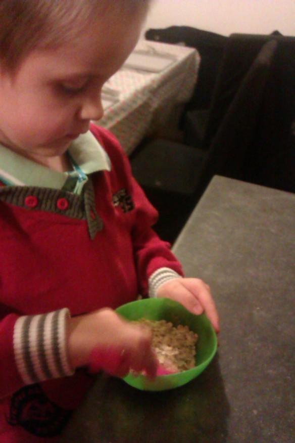 Making reindeer food!