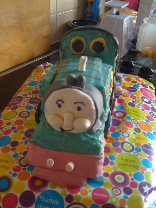 Little Mr A's 2nd birthday cake - OK not professional looking but I was proud of it!