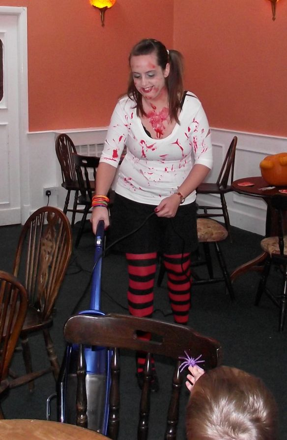Even at a friend's party I had a hoover in my hand! (BTW it was fancy dress!!!)