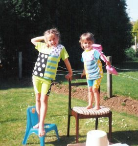 Me & my sister used to have great fun (check out those matching outfits!)